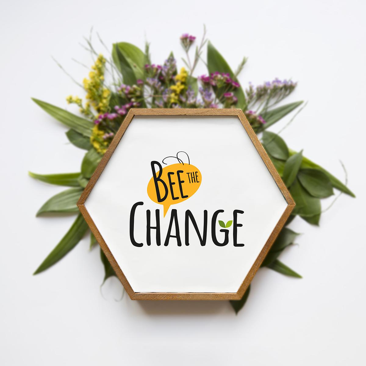 Bee the change logo Palestina